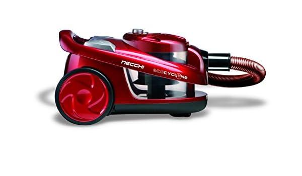 Necchi NH3066 Aspirapolvere Ciclonico, 700 W, Classe A, Rosso