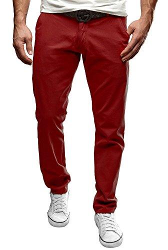 Merish Uomo Pantaloni Chino Cotone, Pantaloni di panno, SlimFit, Pantaloni Casual Uomo,adatto per tutte le occasioni Pantaloni chino, Jeans molti colori diversi Modell 49 Bordeaux