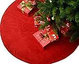1x Christbaumdecke Baumdecke Unterlage Weihnachtsbaumdecke Weihnachtsbaum Unterlage perlmutt weiß weiss Decke 120cm Durchmesser für Christbaum Baumdecke Tannenbaum als Deko Dekoration für Weihnachten