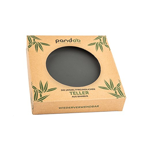 Bambus Teller 6er-Set - BPA-frei & lebensmittelecht - Picknick & Camping Geschirr