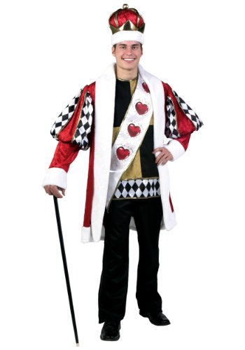 Deluxe King of Hearts Fancy dress costume Medium