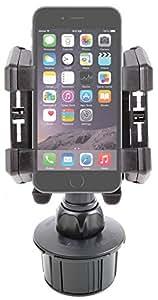 """Support voiture solide, bras flexible, pour Smartphone iPhone 7 / 7 Plus, iPhone 6 et 6s (écran 4,7"""") & iPhone 6 Plus/6s Plus (5.5"""") d'Apple - fixation porte-gobelet & grille d'aération"""
