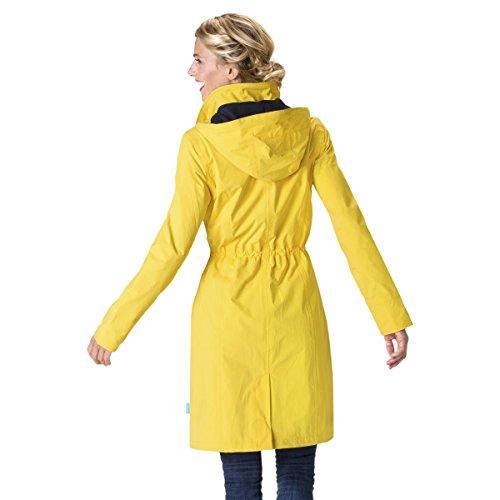 HappyRainyDays - Femme | Manteau imperméable avec capuche Jaune