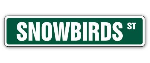 Funny Sign Geschenk SNOWBIRDS Street Sign Florida Retired Snow Birds Geschenk Outdoor Metall Aluminium Schild, Dekoration (Sign Street Florida)