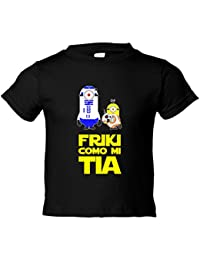 Camiseta niño Star Wars friki como mi tia RD2D BB8 droide bola