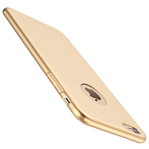 Bylove Iphone 6 or 6s Hülle, Hard PC Rückdeckel Metall Textur sehr dünn anti-dropping Handy Hülle für iPhone 6/6S, iphone 7 (Iphone 6 plus, Gold)