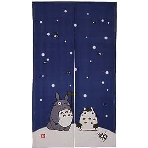 Noren Rideau Totoro (Bleu) neige