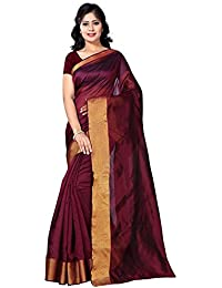 BuyOnn Women's Cotton Silk Party Wear Saree With Blouse Piece