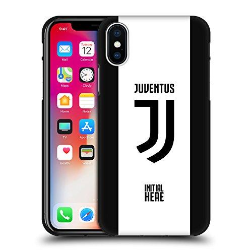 Head case designs personalizzata personale juventus football club strisce in grassetto cover in morbido gel nera per apple iphone x