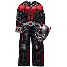 Official Marvel licensed Ant Man fancy dress costume 7-8 years with Light-Up Belt & Mask, Made for George Collection by Marvel for George
