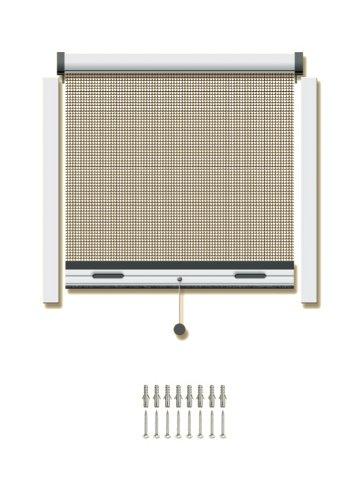 Schellenberg 70979 Insektsystem Rollo Standard für Fenster, 110 x 150 cm, weiß