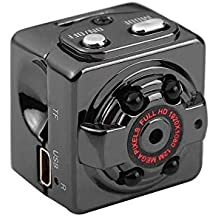 KOBWA Mini Vigilancia Cámara Oculta Gran Angular Full HD 1080P Videocámara de Seguridad Portátil DV Pequeña
