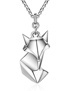 TARDOO 925 Sterling Silber Fuchs Anhänger Halskette Pure Perfect Love Cute Tier Schmuck für Frauen & Mädchen