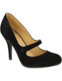dadf51b08e2b7 LADIES WOMENS LOW MID HIGH HEEL ANKLE STRAP COURT SHOES WORK PUMPS SANDALS  SIZE
