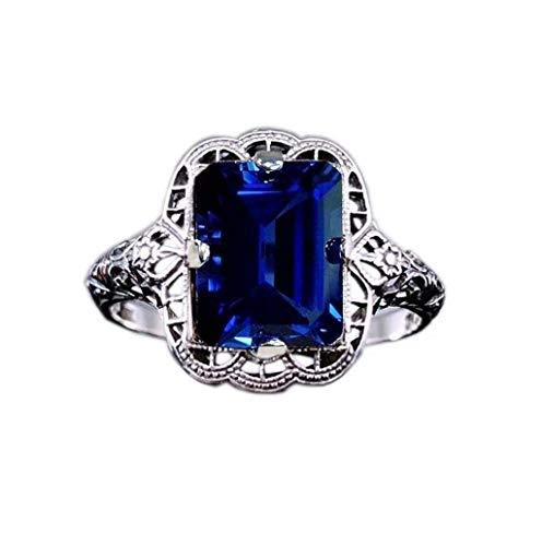 LILICAT_Schmuck Ring 925 Sterling-Silber Ringe Smaragd Schmuck Ehering Verlobungsring Hochzeits Ring für Frauen Hochzeit Ring Slide Sandalen