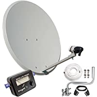 Engel an0432e, antenna satellitare da 80cm, supporto a parete, LBN, sat-finder, bianco. prezzi su tvhomecinemaprezzi.eu