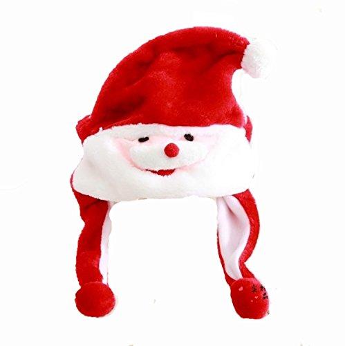 Preisvergleich Produktbild GEXING Weihnachtsmann-Hut Christbaumschmuck Erwachsene Kinder Hat ,Red-onesize