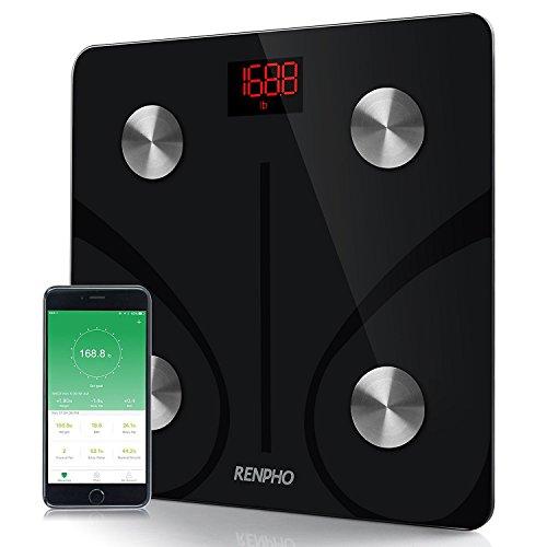 Digital-körperfett-messung (RENPHO Körperfettwaage Bluetooth, Smart Digitale Personenwaage, Körperwaage mit APP, Messung von Körperfett, BMI, Körpergewicht, Wasser und Muskelmasse etc.)