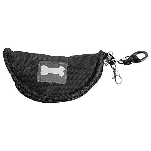 Ciotola per cani ciotola di acqua platopara cani pieghevole impermeabili alimenti portatile per gatto cane aire libre nero
