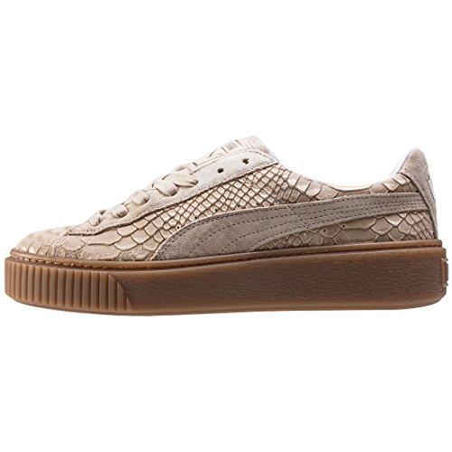 Puma Basket Platform Exotic Skin 36337702, Turnschuhe Natural Vachetta