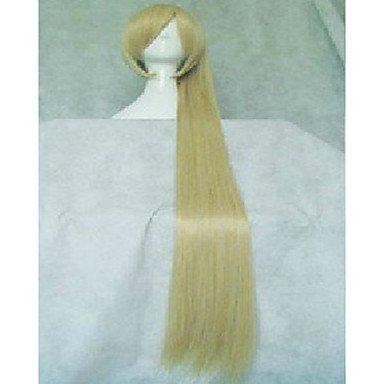 HJL-4 couleurs ¨¦l¨¦gant cosplay perruque 28 pouces super long cheveux synth¨¦tiques perruques droites anim¨¦s bande dessin¨¦e de la fille , blonde