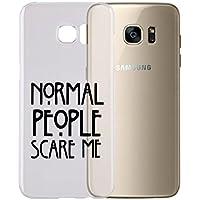 Cover per tutti gli Smartphone Samsung s4 s5 s6 s7 s8 + note 4 note 5 - NORMAL PEOPLE SCARE ME Con PROTEZIONE della FOTOCAMERA Custodia Clear Trasparente Ultra Sottile Silicone Gel