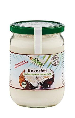 100ProBio Kokosfett mild - geruchs- und geschmacksneutral, 1er Pack (1 x 0.5 l)