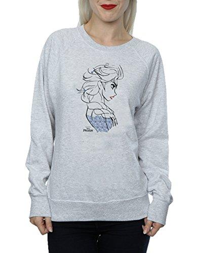 Disney Femme Frozen Elsa Sketch Sweat-Shirt Heather Gris