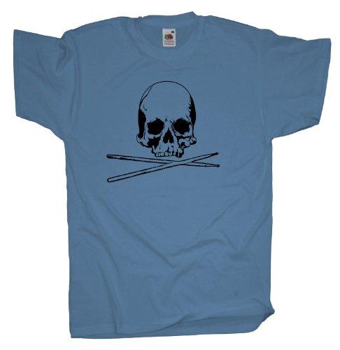 Ma2ca - Drummer Skull - T-Shirt Skyblue