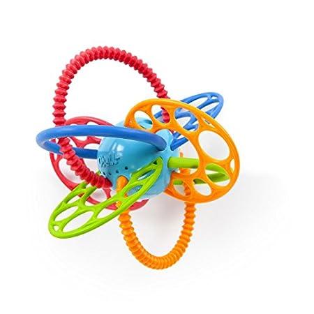 Oball Flexi Loops Greifspielzeug mit Beißringen aus flexiblem, leicht zu greifendem Material mit unterschiedlichen Texturen