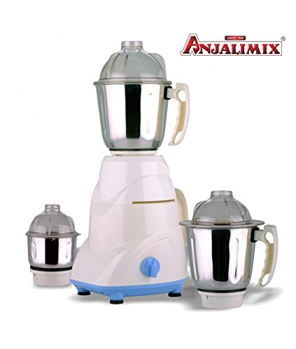 ANJALIMIX Mixer Grinder Waman 750 WATTS With 3 Jars (White), DRY, WET, CHUTNEY  available at amazon for Rs.2249