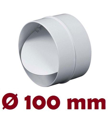 Verbindungsstück mit Rückstauklappe Verbinder Lüftungsrohr Rundkanal Rohr Ø 100 mm Lüftungsanlage Kanal K0100 22