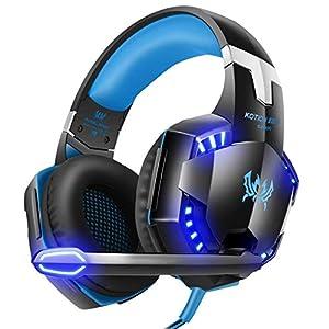 Gaming Kopfhörer Tsing EACH G2000 Professionelle 3,5mm PC LED-Licht Gaming Über-Ohr Kopfhörer-Mikrofon mit HiFi-Treiber für Laptop-Computer
