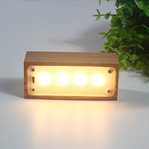 Massivholz led nachtlicht usb touch lade schreibtischlampe holz a abschnitt 2,5 watt
