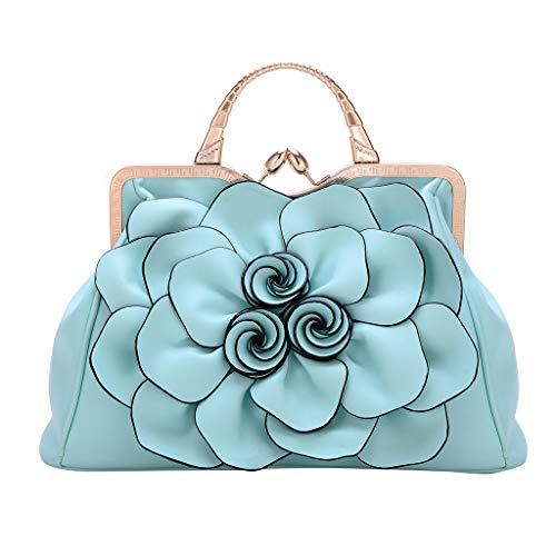 WHSHINE 2019 Neu Handtasche,Damen Mode Persönlichkeit Rose Handtasche Frauen Elegant Party Schultertasche Umhängetasche Kosmetiktasche