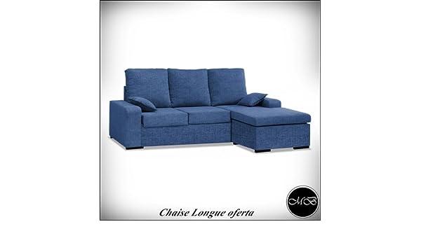 Muebles Baratos Sofas Chaise Longue 3 4 Sitzer Wohnzimmer Sofa Chaiselongue  Cheslong Esszimmer Ref 04: Amazon.de: Küche U0026 Haushalt