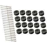 20 stuks - ronde knop voor 6-8 mm expandertouw + 20 alunieten