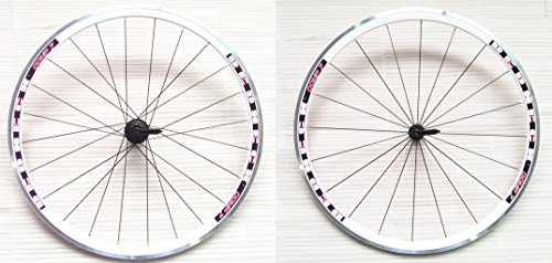 Redneck Sport Comp 7roues pour vélo de route, 8/9/10vitesse, 20rayons avant, 24rayons arrière Blanc blanc (Steel Road Ruote)