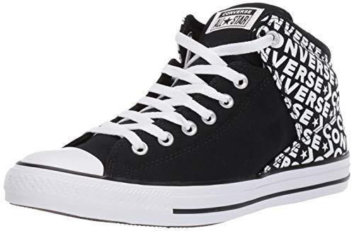 Converse Herren Chuck Taylor All Star Street Wordmark High Top Sneaker, Schwarz (Schwarz/Schwarz/Weiß), 45 EU Converse Chuck Taylor Print Sneaker