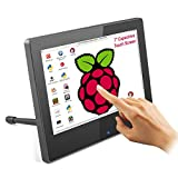 Portable Raspberry Pi Monitor with Touch Screen, ELECROW 7-inch HDMI Portable Capacitive Touchscreen Display with Dual Built-In Speakers and Backlight Adjust Function, for Raspberry Pi 4B 3B+/PC