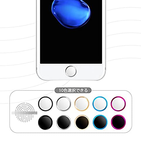 Doutop iPhone Touch ID Sticker Home Finger Button Ring Support 3D Touch Compatible and Fingerprint Indentification System for iPhone 7 iphone 6 iphone 6 plus iPhone 5s iPad Air 2 iPad Mini 3 iPhone 6s iPhone 6s Plus iPad Mini 4 (White and