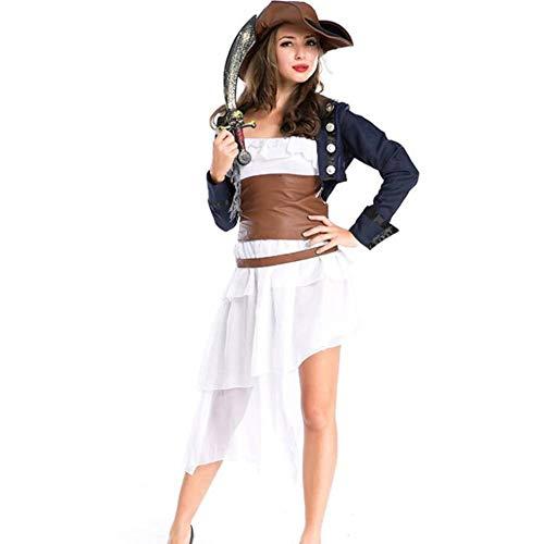 Kostüm Königin Piraten - ASDF Halloween-Kostüm, Temperamentkönigin, Piraten-COS-Kleidung, weiblicher Dämonenanzug