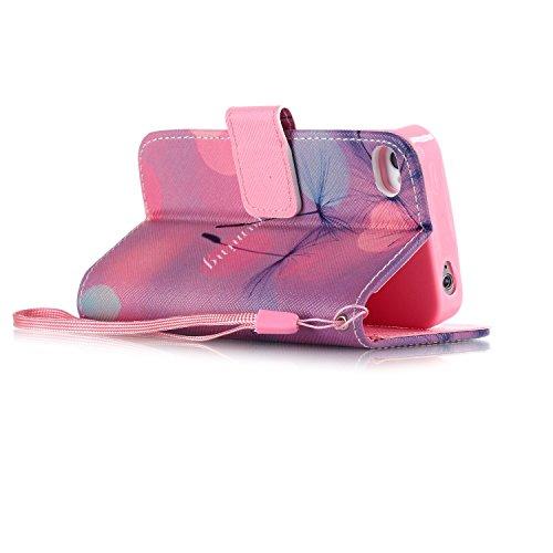 Funyye Custodia Per iphone 5 / iphone 5s / iphone SE Cover in Pelle Portafoglio [Con Gratis Pellicola Protettiva] Fiori Rosa Disegno Elegante Libro Cordino Stile Copertura Supporto Stand + Porta Carte Color-12