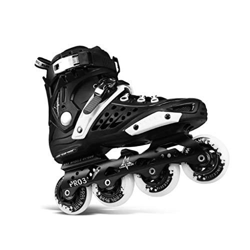 ZPLHX Uomo Principiante Pattini A Rotelle,Adulti Confortables Pattini in Linea ,Gioventù Uomo Donna All'aperto Inline Skates (Color : Black)