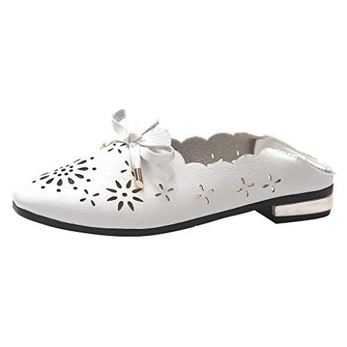 Makefortune 2019 Damen Ausschnitte Frühling Herbst Freizeitschuh Shallow Mouth Hollow Schuhe Flache Flache Schuhe des flachen Munds einzelne Schuhe Hohle Damenschuhe