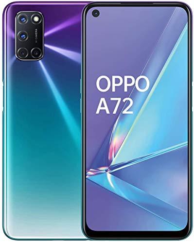 """Oferta de OPPO A72 – Pantalla de 6.5"""" (FHD+, 4GB/128GB, Snapdragon 665, 5.000 mAh, cámara trasera 48MP+8MP+2MP+2MP, cámara frontal 16 MP, Android 10) Morado [Versión ES/PT]"""