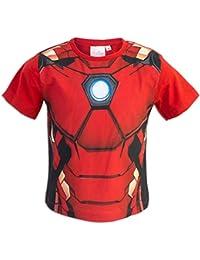 0deff24d40 Marvel Avengers - T-Shirt Maniche Corte - Captain America Iron Man Black  Panter -