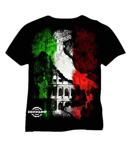 Zoonamo T-Shirt Italien Classic, Farbe:schwarz, Größe:XL