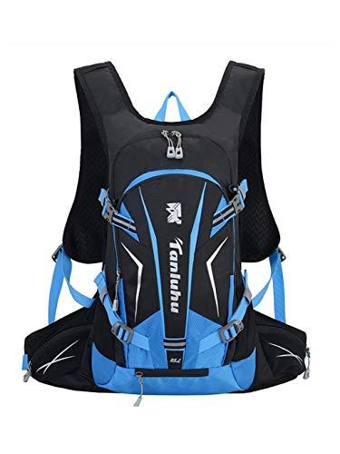 CHENG BAG Professionelle Reittasche, Im Freien 25L Bewegung Rucksack Lässig Und Leicht Reisetasche Off-road Zu Fuß Bergsteigenbeutel Unisex (Farbe : Blau) -
