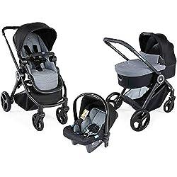 Chicco Trio Best Friend sistema de viaje piedra con asiento de coche y protector de lluvia